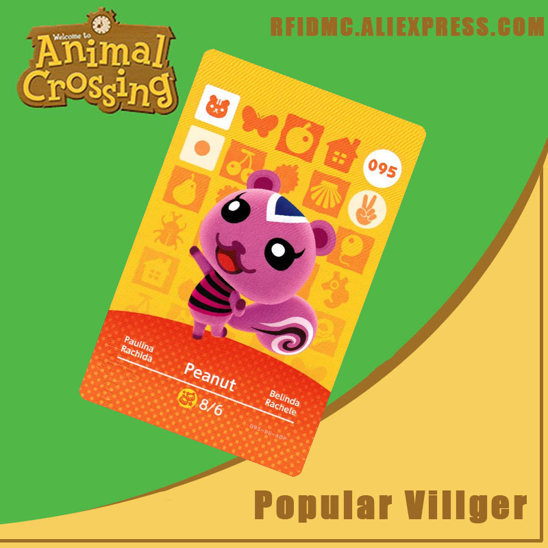 095 Peanut Animal Crossing Card Amiibo For New Horizons