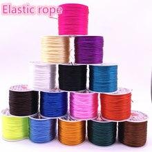 50m/rolo 0.3*0.7mm colorido flexível de cristal elástico linha corda cabo para fazer jóias miçangas pulseira fio fio fio corda de pesca
