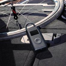 Najnowszy Xiaomi Mijia przenośne inteligentne cyfrowe wykrywanie ciśnienia w oponach elektryczna pompa Inflator 1S dla rowerów motocykl samochód piłka nożna tanie tanio 小米有品 CN (pochodzenie) xiaomi mijia digital tire electric inflator pump 1S Wtyczka amerykańska Gotowa do działania