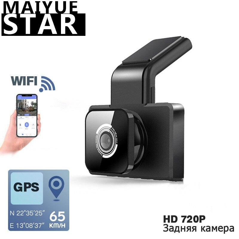 Maiyue star 1080P HD voiture DVR caméra WIFI vitesse GPS coordonnée Vision nocturne tableau de bord 24H moniteur de stationnement