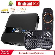 Z systemem Android 10 Smart TV BOX 4K odtwarzacz multimedialny 3D wideo 2.4G wifi 2GB pamięci RAM, 16GB zestaw Top odtwarzacz multimedialny Box odtwarzacz multimedialny odbiornik TV