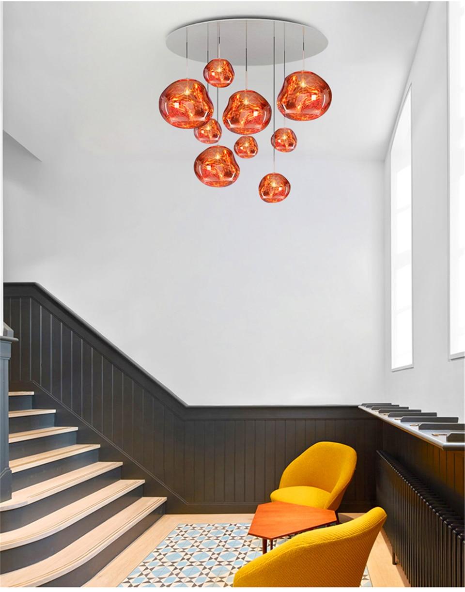 Nordic restaurante luminárias design de lava luzes
