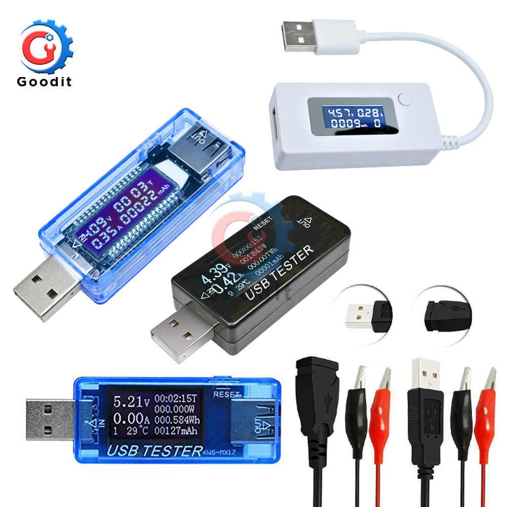 USB Bút Thử DC Kỹ Thuật Số Vôn Kế Amperimetro, Điện Máy Đo Ampe Kế Dò Điện Bank Chỉ Báo USB Bác Sĩ
