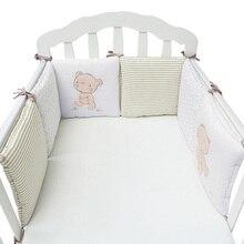 6 шт./лот детская кровать протектор кроватки бампер колодки детская кровать бампер в кроватку бампер безопасности из смеси хлопка Детский Комплект постельного белья