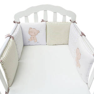 Bumper-Pads Rail Bed-Protector Bedding-Set Crib Baby Safety Cotton 6pcs/Lot