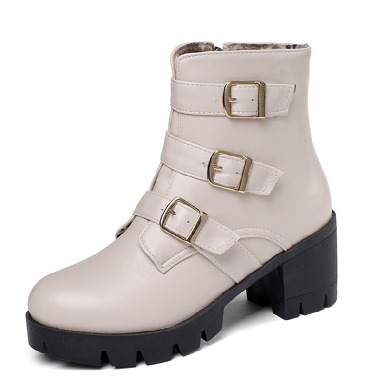 Image 2 - MORAZORA 2020 new arrival women ankle boots buckle zip autumn winter high heels platform boots fashion casual shoes ladies-in Ankle Boots from Shoes