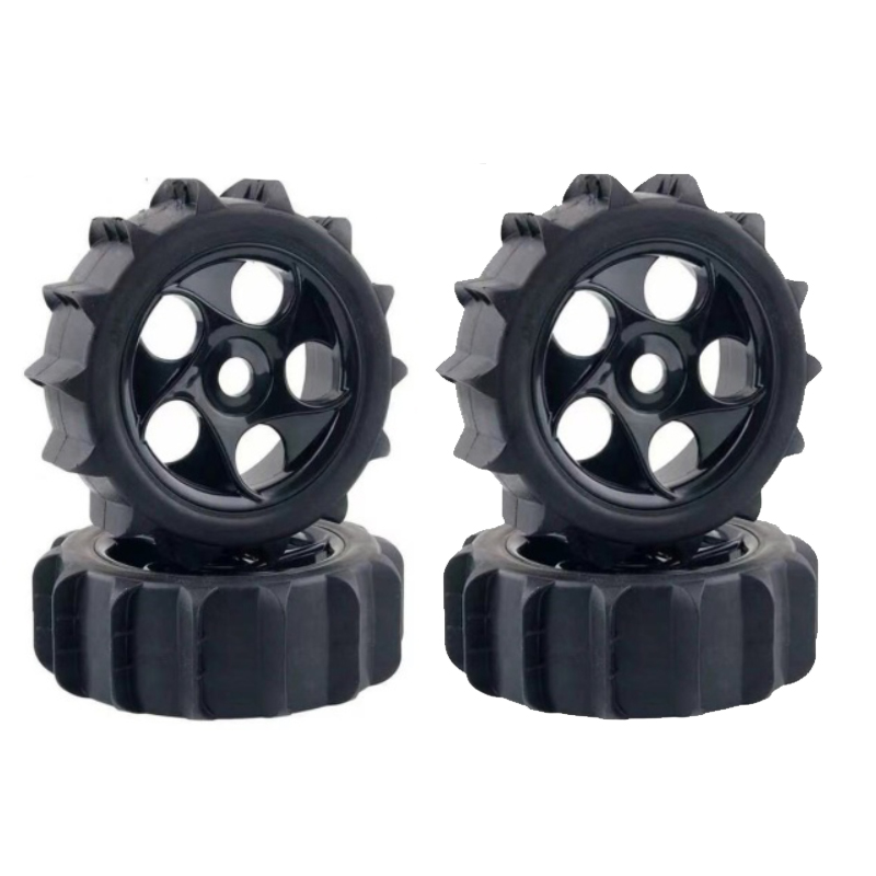 4pcs RC 1/8 Paddles Snow Sand Tires Tyres Fit HPI AKA 1:8 Off-road Buggy Wheels 1:8 Off-road Short Card Beach Tire For RC Car
