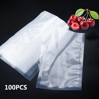 100PCS/lot vacuum sealer bag sealer for vacuum bags machine for pack food saver Packaging Rolls vacuum bags for food 1 roll 100pcs thickened saran wrap vacuum sealer general food saver plastic bag food storage preservation bags packaging film