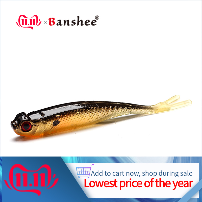 Banshee 100mm 8Pcs/Lot Shads Soft Lures Real Silicon Bait For Fish Shad Easy Shiner Wobblers Fishing Lure Artificial Plastic
