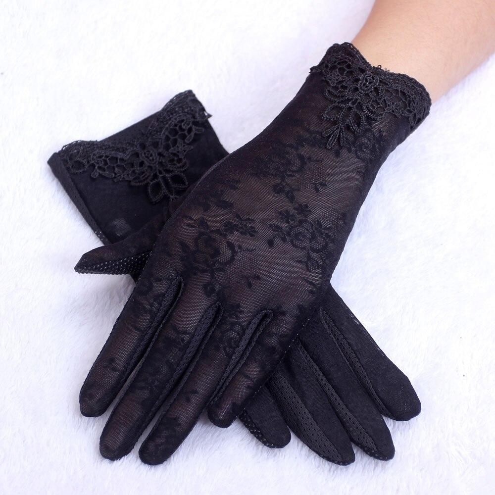 Women's Outdoor Summer UV-Proof Driving Gloves Gloves Lace Gloves Womens Sexy Lace Gloves Thin Anti-Sun  Femme Outdoor Gloves