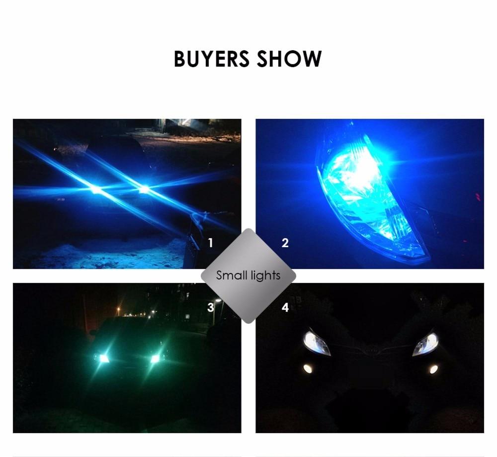 carro e para névoa 20w 12-80v 6d lâmpada universal 3000k 6000k