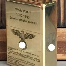 WZH 210 г 5,9*4,3 см латунная винтажная Античная пятисторонняя лазерная гравировка зажигалка