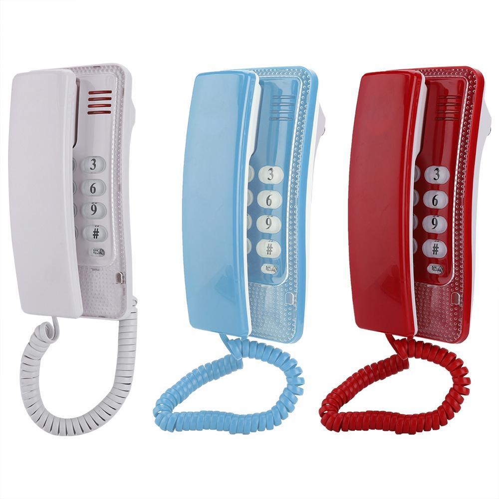 Tragbare Telefon Wand Montieren Festnetz Verlängerung Keine Anrufer ID mini Telefon Für Hotel Familie Hause Telefon haus Telefones