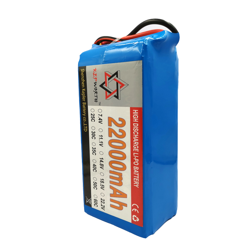 <font><b>6S</b></font> 22.2V RC <font><b>Lipo</b></font> Battery High Capacity <font><b>22000mAh</b></font> 25C For Helicopter Drone Plane Car Toy RC Li-Po Battery High Power image