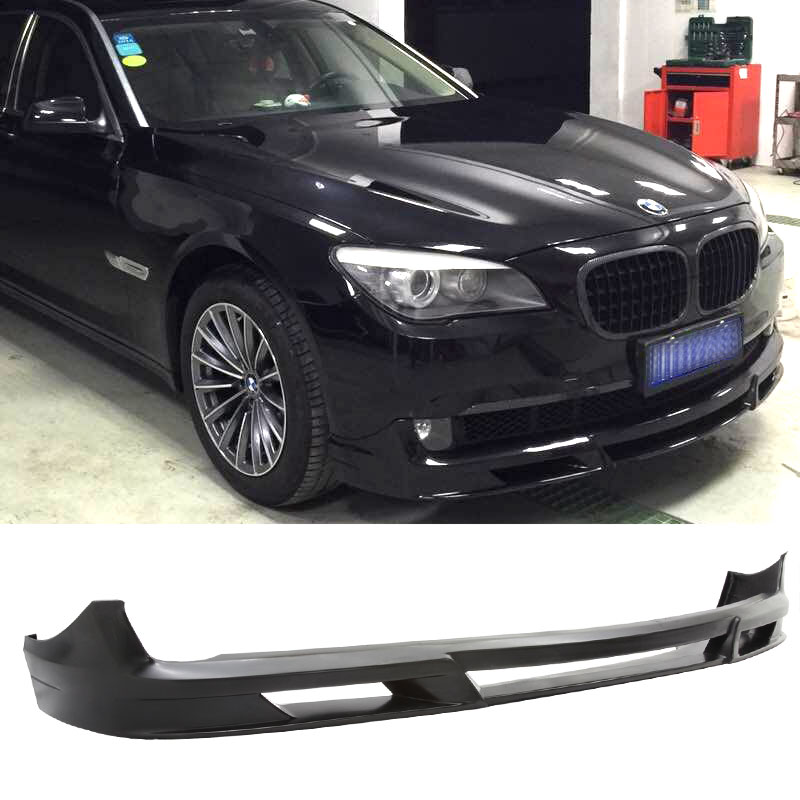 Fit For 2009 2010 2011 2012 BMW F01 F02 7 Series B7 Style Front Bumper Lip Spoiler Valance Unpainted Black PU