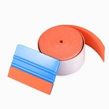 Squeegee Scraper Auto-Window-Tint FOSHIO Car-Tool Vinyl-Wrap Carbon-Fiber Suede-Edge