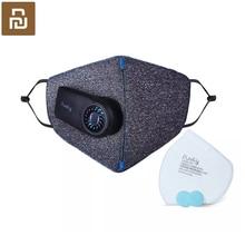 Youpin גרידא נגד זיהום אוויר זרימת מסכת טרי גרסה PM2.5 לנשימה נטענת מסנן עם מאוורר עבור ספורט למבוגרים