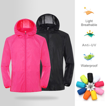 2021 Unisex Hooded Jacket Waterproof Quick Dry Windbreaker Sun Protection Jacket For Hiking Camping Hunting Outdoor Sports CSV