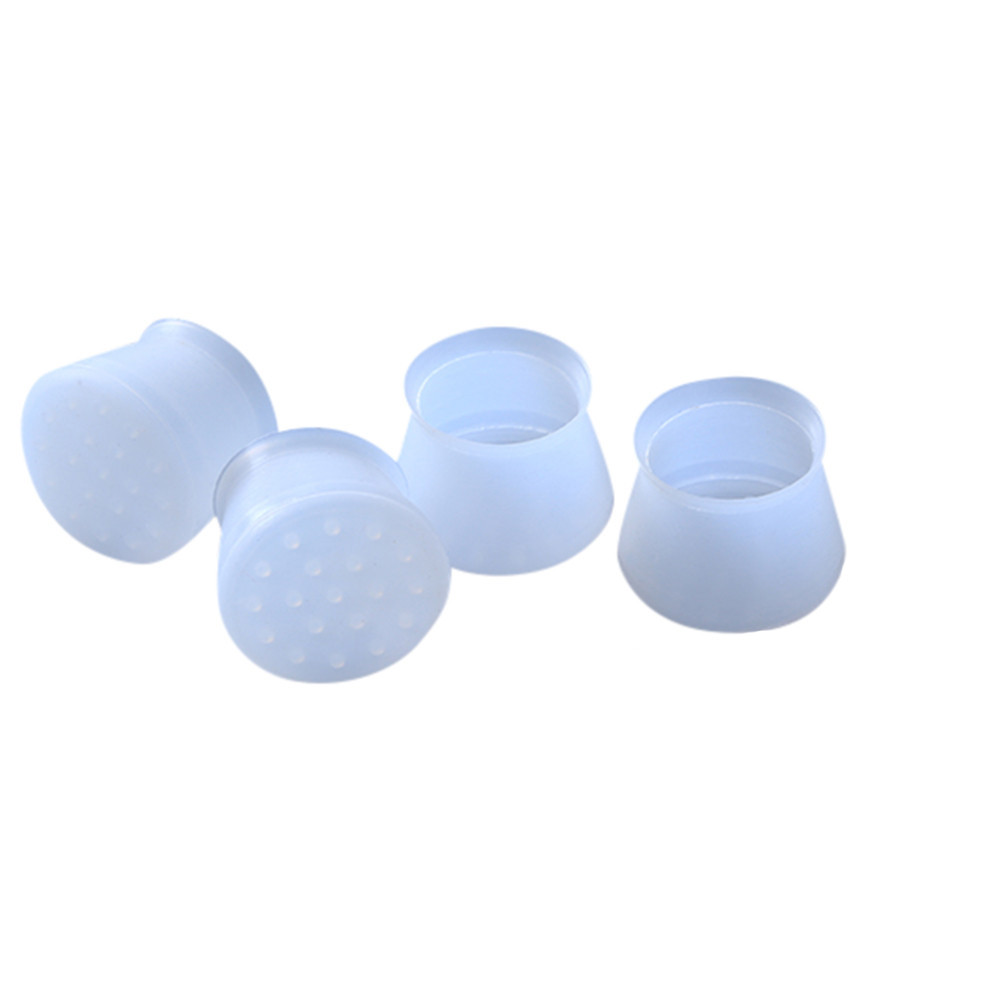 4pcs Silicone Chair Leg Caps Feet Pads Furniture Table Feet Covers Socks Floor Protector Round Bottom Non-Slip Cups Diameter