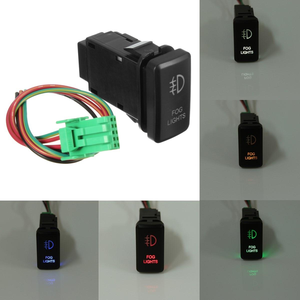 12V LED Fog Light On-Off Switch For Toyota Landcruiser FJ Cruiser Prado Hiace
