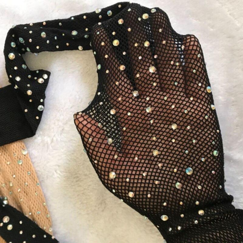 Модные блестящие колготки в сетку, чулки пикантные серебристые женские туфли-лодочки, верхняя часть сетчатая, тонкие колготки для женщин хо...