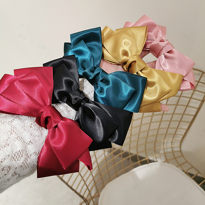 2020New Satin Barrettes Bow Hairgrips Three-layer Big Bow Hairpin For Women GirlTrendy Top Clamp Hair Clip Cute Hair Accessories