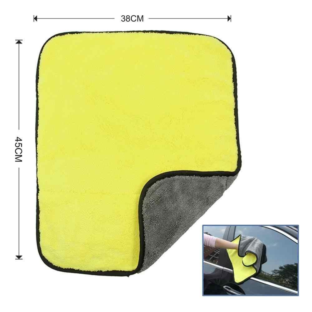 30X30 Cm Rửa Xe Ô Tô Sợi Nhỏ Khăn Vệ Sinh Xe Sấy Vải Hemming Chăm Sóc Xe Vải Họa Tiết Khăn Rửa Xe Ô Tô dành Cho Xe Toyota 38*45 Cm