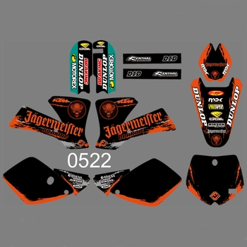 For KTM 65SX 65 SX 2000-2008 Graphics Decals Stickers Custom Number Name 3M Full  Motorcycle Backgrounds Stickers Accessories