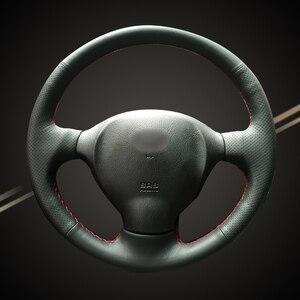 Оплетка на руль автомобиля для Hyundai Santa Fe 2001, 2002, 2003, 2004, 2005, 2006, старые Чехлы для салона автомобиля, аксессуары
