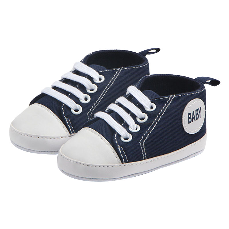 New Canvas Classic Baby Shoes Soft Bottom Boys And Girls First Walkers Anti-slip Toddler Shoes Simple Solid Newborn Sneakers