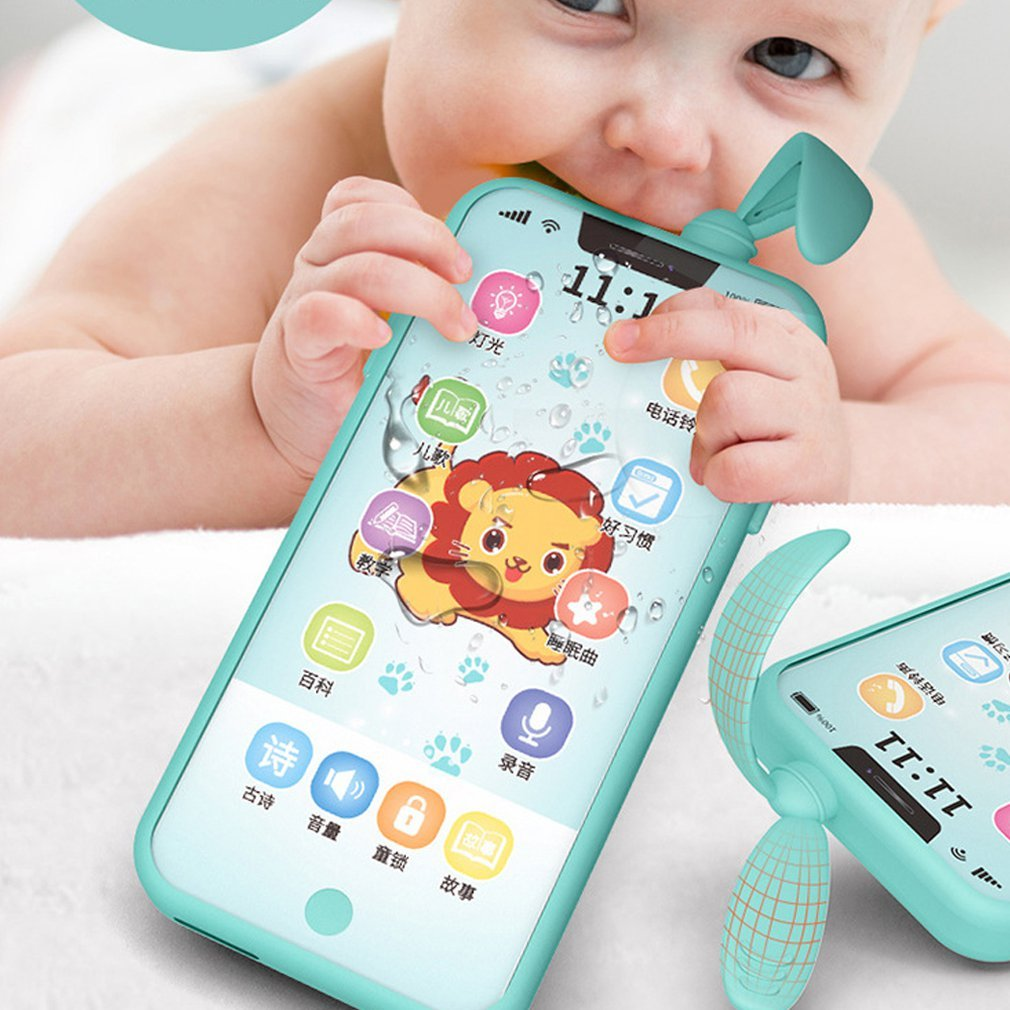 Unisex Early Childhood Educational Smart Touch Screen Phone Baby Enlightenment Toy Simulation Multi-function Phone