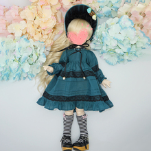 Modiker 3Pcs Cute Long Sleeve Layered Dress for 1/6  1/4  BJD Dolls - (Peacock Blue) No Doll