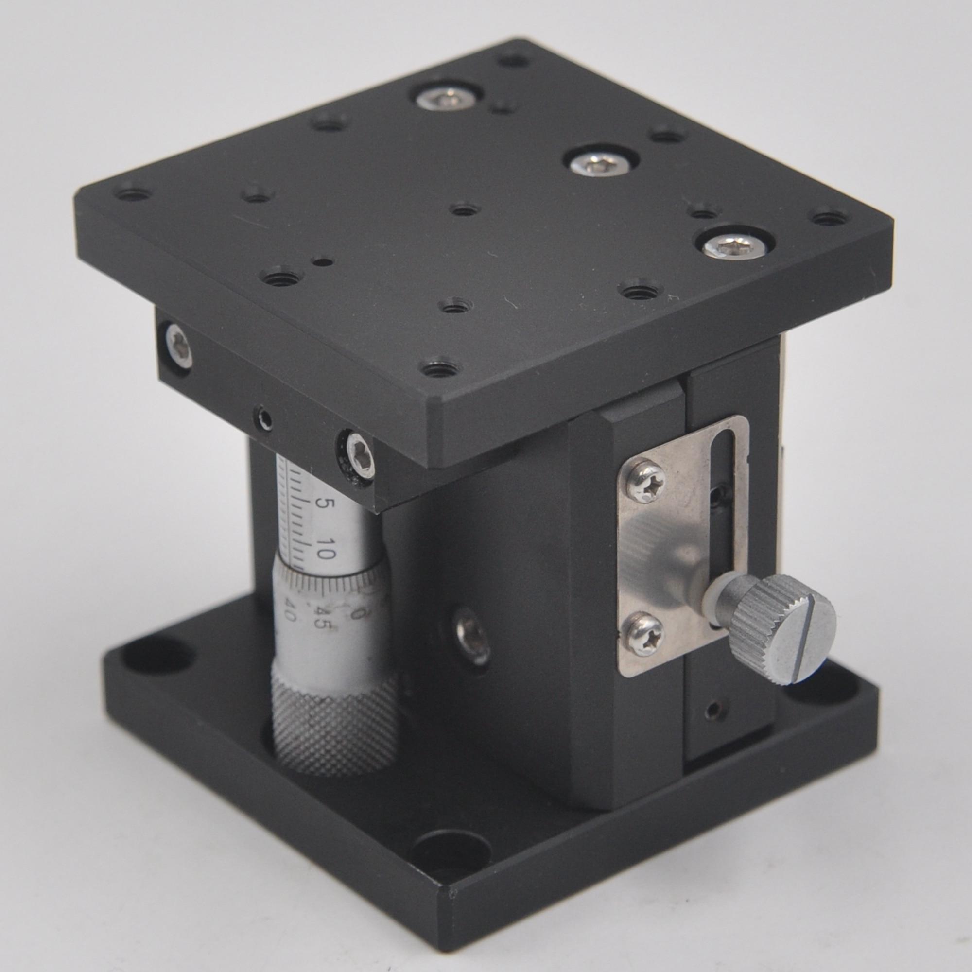 SURUGA B37-60 Z Axis 60 * 60mm Manual Precision Lifting Fine Adjustment Slide Optical Displacement Platform Aluminum