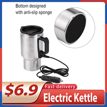 Cigarette-Lighter Coffee-Mug Electric-Kettle Usb-Heating-Bottle Travel Portable Hot Car-Cup
