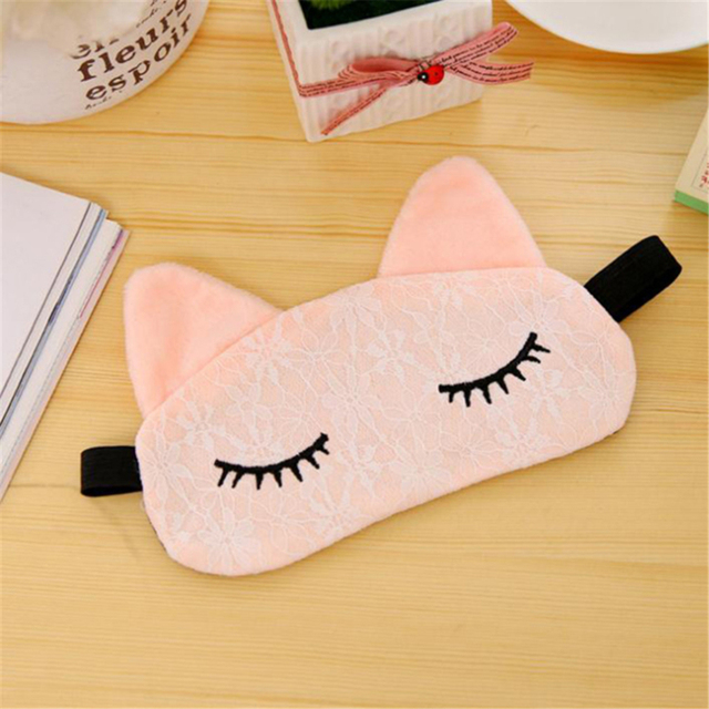 Cute Cartoon Eye Mask Lace 2020 New Korean Kawaii Travel Shading Sleep Eye Mask Small Fresh Exquisite Comfortable Blindfold