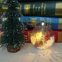 Creative LED Transparent Lights Ball Hanging Christmas Decorations Home Garden Holiday Decoration Battery Include