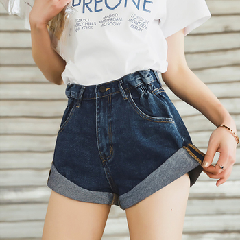 Denim Shorts Womens Sexy Mid Rise Shorts Raw Hem Ripped Denim Jean Shorts 2020 Wild Shorts Split-cut Hole-cut Raw Plus Size raw hem geo pattern crop sweater