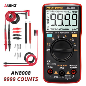 ANENG AN8008 Digital Multimeter 9999 Counts Transistor True RMS Tester rm409b Auto Electrical Testers Voltage capacitor Meters(China)