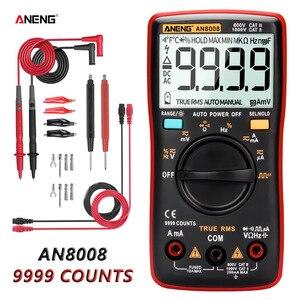 ANENG AN8008 Digital Multimeter 9999 Zählt Transistor True RMS Tester rm409b Auto Elektrische Tester Spannung kondensator Meter