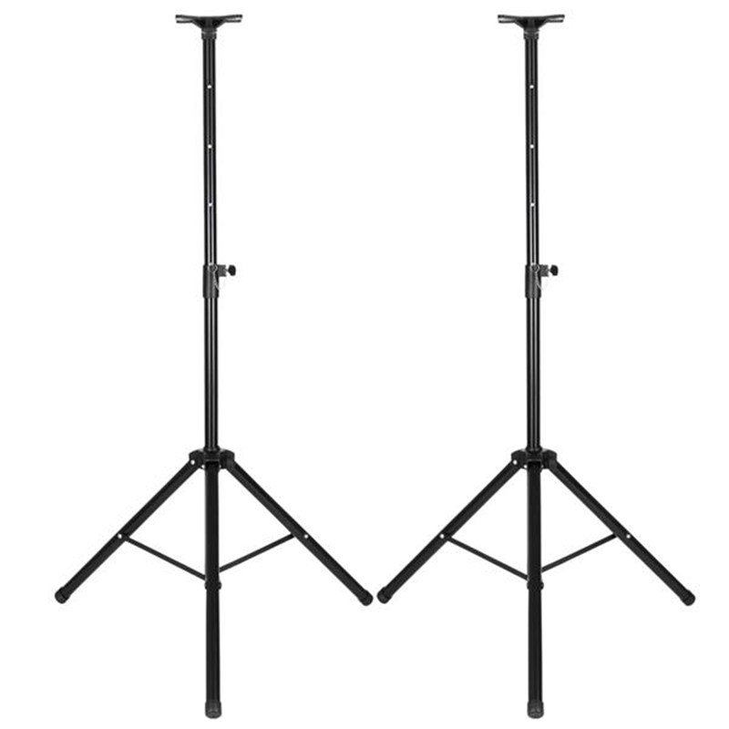 1 Pair Height Adjustable Tripod For DJ PA Speaker Metal Stands Floor Holder For Projector DVD Player Bracket With Carry Bag
