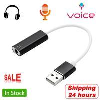 HIFI-tarjeta de sonido de Audio externa USB a conector de 3,5mm, adaptador de Audio, auriculares, altavoz, micrófono, para PS3, Macbook, ordenador y PC, 7,1 canales