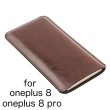 1+8pro Universal Fillet holster Phone Straight leather case retro simple style pouch FOR oneplus 8 pro oneplus8 phone bag