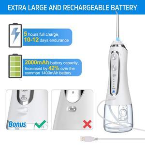 Image 5 - Oral Irrigator 5 Modes Portable 240ml Dental Water Flosser Jet USB Rechargeable Irrigator Dental Water Floss Tips Teeth Cleaner