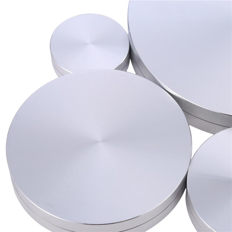 1PCS Cake Pan Axis Turntable Aluminum Alloy Rotating Tray Base Rotor Base Aluminum Bearing Cake Turntable High Quality