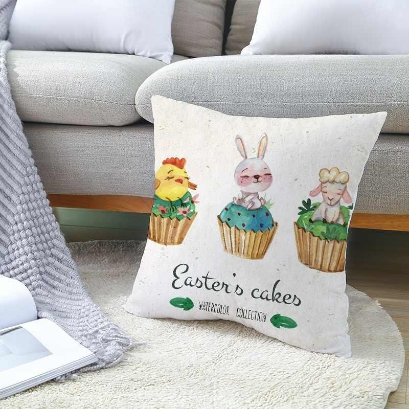 عيد الفصح كيس وسادة الأرنب البيض الخوخ الجلد غطاء الوسادة البيض أرنب وسادة المخدة رمي وسادة تغطي عيد الميلاد وسادة غطاء