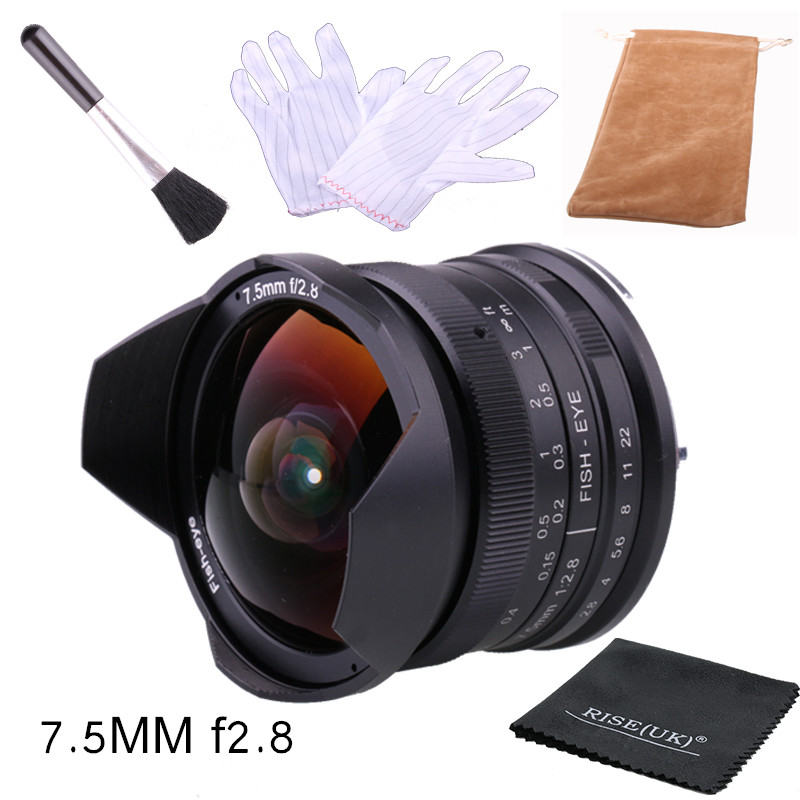 RISESPRAY 7.5mm F2.8 Fisheye Lens 180 APS-C Manual Fixed Lens For Sony E Mount Hot Sale Free Shipping