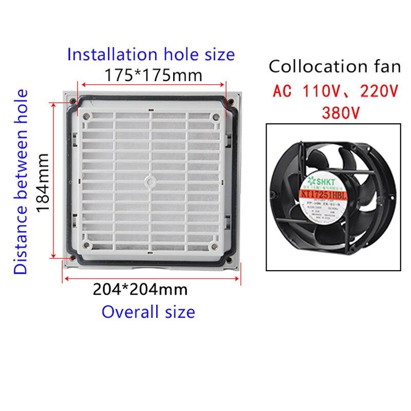 Double Ball Bearing Fan Ventilation Filter Set Grille Louvers Blower Exhaust Ventilation System Fan Filter With Fan