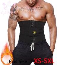 LANFEI Men Waist Trainer Slimming Belt Body Shaper Sweat Sauna Modeling Strap Workout Trimmer Weight Loss Corset Plus Size