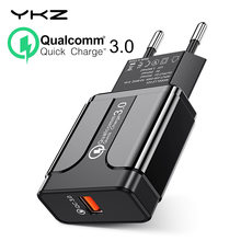 YKZ Quick Charge 3.0 18W Qualcomm QC 3.0 4.0 Fast charger USB portable Charging Mobile Phone Charger For iPhone Samsung Xiaomi(China)
