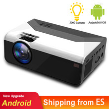 MINI Proyector LED para el hogar G08 1280*720P 3000 lúmenes Android Proyector WIFI para teléfono móvil 4K 3D Proyector de vídeo para Proyector